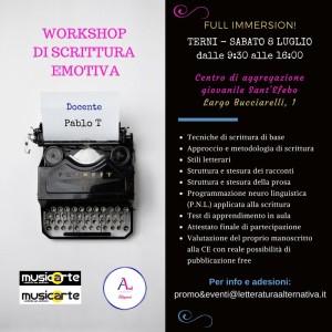 Workshop di scrittura emotiva - Terni